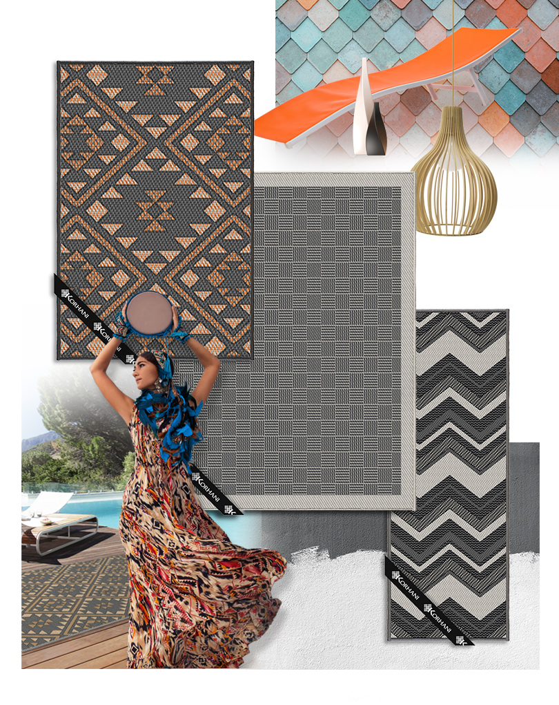 Image of the rugs that we featured in the Cityline segment.